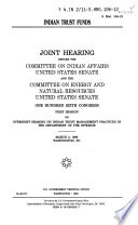 106 1 Joint Hearing  Indian Trust Funds  S  Hrg  106 12  March 3  1999
