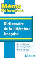 Mémo Références • Dictionnaire de la littérature française