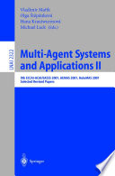 Multi Agent Systems and Applications II