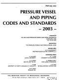 Pressure Vessels and Piping Codes and Standards