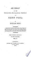 An Essay On The Character And Practical Writings Of Saint Paul Third Edition