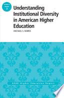 Understanding Institutional Diversity in American Higher Education Book