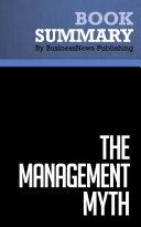 Summary   The Management Myth   Matthew Stewart