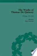 The Works of Thomas De Quincey  Part I Vol 1