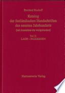 Katalog der festländischen Handschriften des neunten Jahrhunderts