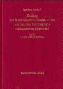 Katalog der festländischen Handschriften des neunten Jahrhunderts: Laon-Paderborn