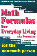 Math Formulas for Everyday Living