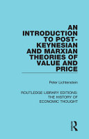 An Introduction to Post Keynesian and Marxian Theories of Value and Price