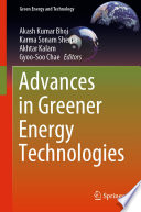 Advances in Greener Energy Technologies Book