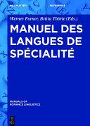 Pdf Manuel des langues de spécialité Telecharger
