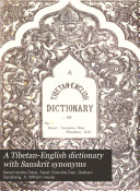Pdf A Tibetan-English Dictionary with Sanskrit Synonyms
