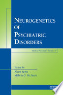 Neurogenetics of Psychiatric Disorders Book