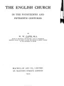 The English Church In The Fourteenth And Fifteenth Centuries