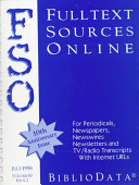 Fulltext Sources Online July 1998