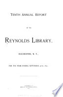 Annual Report Of The Reynolds Library