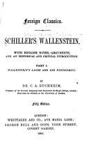 Pdf Schiller's Wallenstein: Wallenstein's lager, and Die Piccolomini