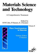 Materials Science and Technology  Phase Transformations in Materials
