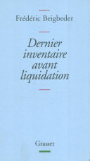 Dernier inventaire avant liquidation Book