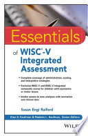 Essentials of WISC V Integrated Assessment Book