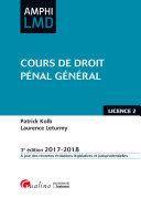 Cours de droit pénal général 2017-2018