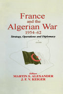 Pdf France and the Algerian War, 1954-1962 Telecharger