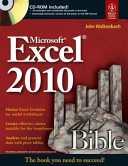 MICROSOFT EXCEL 2010 BIBLE  With CD