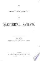 Telegraphic Journal And Electrical Review