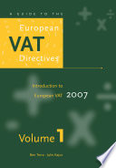 A Guide to the European VAT Directives