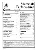 Materials Performance