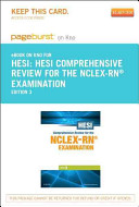 HESI Comprehensive Review for the NCLEX RN Examination Pageburst on Kno Retail Access Code