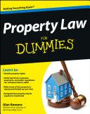 Property Law For Dummies [Pdf/ePub] eBook
