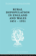 Pdf Rural Depopulation in England and Wales, 1851-1951 Telecharger