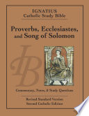 Proverbs, Ecclesiastes, and the Song of Solomon