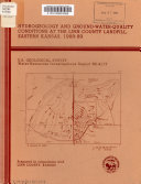 Hydrogeology and Ground water quality Conditions at the Linn County Landfill  Eastern Kansas  1988 89