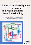 Research And Development Of Vaccines And Pharmaceuticals From Biotechnology Book PDF