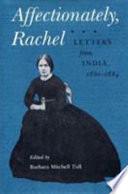 Affectionately Rachel Book