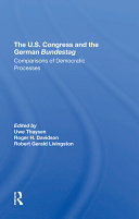 The U s  Congress And The German Bundestag