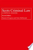 Scots Criminal Law