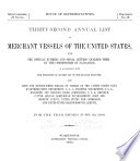 Merchant Vessels of the United States  including Yachts and Government