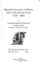 Spanish Literature in Russia and in the Soviet Union  1735 1964