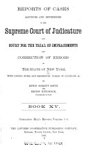 Pdf Reports of Cases Adjudged and Determined in the Supreme Court of Judicature and Court for the Trial of Impeachments and Correction of Errors of the State of New York