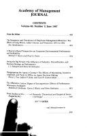 Academy of Management Journal Book