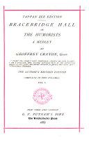 Pdf Tappan Zee Edition of Irving's Works: Bracebridge Hall