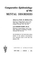 Comparative Epidemiology of the Mental Disorders Book
