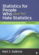 Bundle  Salkind  Statistics for People Who  Think They  Hate Statistics 4e   Salkind  Excel Statistics 3e Book
