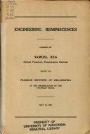 Engineering Reminiscences