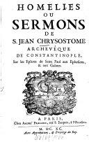 Homélies ou sermons sur ... S. Paul