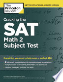 Cracking the SAT Math 2 Subject Test Book