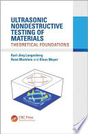Ultrasonic Nondestructive Testing of Materials