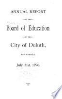 Report of the Board of Education of the City of Duluth  Minnesota